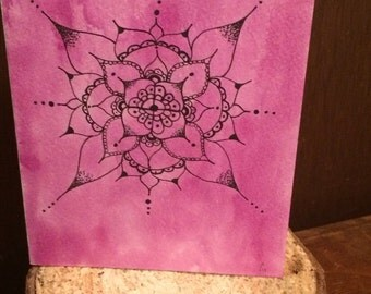 Purple Mandala greeting card