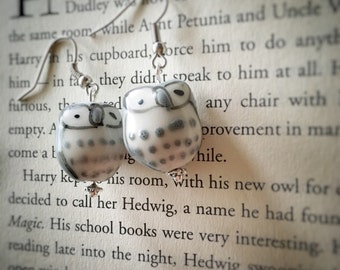 Hedwig Harry Potter earrings