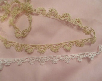 "Hand Tatted 5/8"" Lace Edging by Hald-Yard"