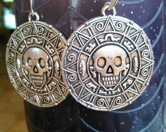 Aztec Skull Earrings