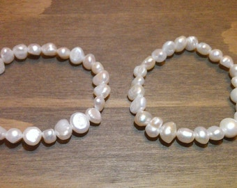 x2 Real Cultured Freshwater Pearl Bracelet
