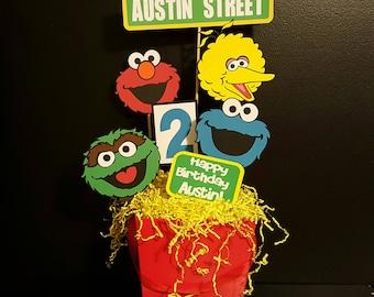 Sesame Street Birthday Party-Sesame Street Centerpiece-Sesame Street Decorations-Sesame Street Party-First Birthday Party