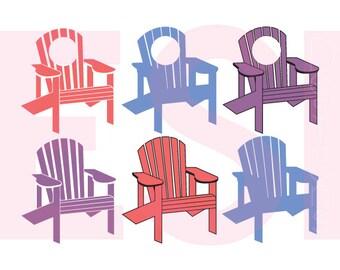 Adirondack Chair Svg, DXF, EPS, PNG, Monogram Svg Files, Summer Svg
