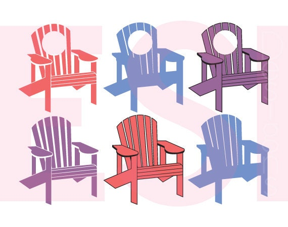 Adirondack Chair svg DXF EPS PNG Monogram svg files