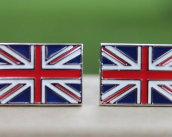 United Kingdom British Flag Cufflinks