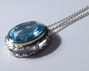 VR blue topaz necklace