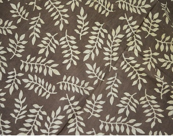Dabu Block Printed cotton fabric by the yard, Hand Stamped Fabric for Dress, Nursery, Quilting,Crafting, Soft Cotton Fabric in Brownish-grey