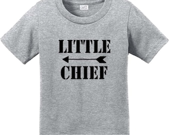 Infant Toddler Shirt, Father's Day Gift, Little Chief Kids Shirt, Gift for Kids, Baby Shower Gift, Baby Gift, Funny Tees, Family Shirts