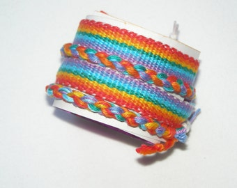 Rainbow Friendship Woven Bracelets / Friendship bracelet / Hippie bracelet / Handmade Woven Jewelery