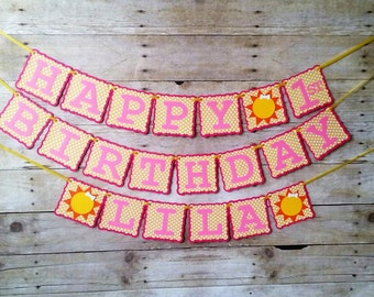 You Are My Sunshine Birthday Banner - party supplies - party banners - decorations - personalized