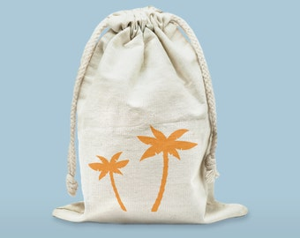 In cotton with logo of Palm tree storage bag