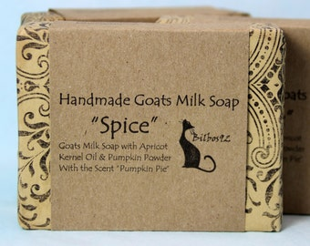 "Goats Milk Soap - ""Spice"" with Apricot Kernal Oil, smells just like Pumpkin Pie"