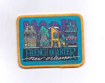 Vintage New Orleans French Quarter Patch