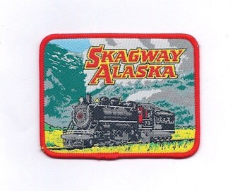 Vintage Skagway and Train Patch