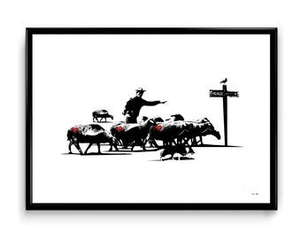 Serigraphy The shepherd by Sunra