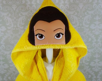 Belle Beauty and The Beast Inspired Hooded Towel on High Quality