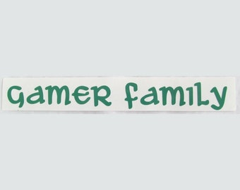Vinyl Gamer RPG Car Window Decal Sticker Gamer Family Role Playing Game Gaming D&D Dungeons Dragons