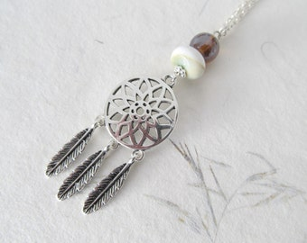 Dreamcatcher necklace, bohemian necklace