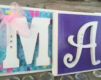Decorative Letters, Nursery Letters, Wooden Letters, Name Art, Wood Letters, Hanging Letters, Wall Letters, Nursery Decor, Alphabet Letters
