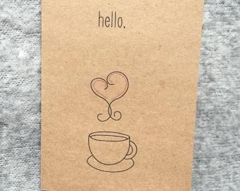 The Hello Coffee Card Set (Kraft)
