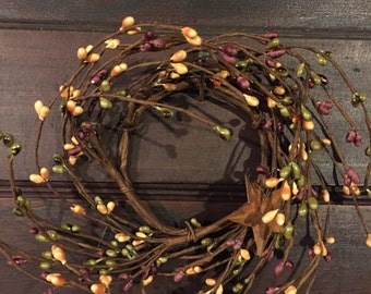Candle Ring with Rusty Stars