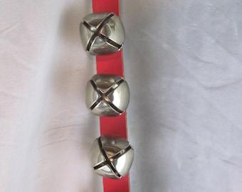 Sleigh Bells, Christmas Bells, Jingle Bells, Vintage Sleigh Bells, 1970's Sleigh Bells, Door Bell Ornament, Snow Bells