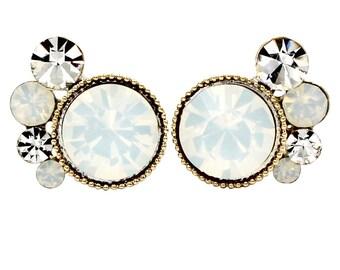 Lovely crystal little feet earrings