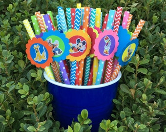 Mickey Mouse ClubHouse Paper Straws