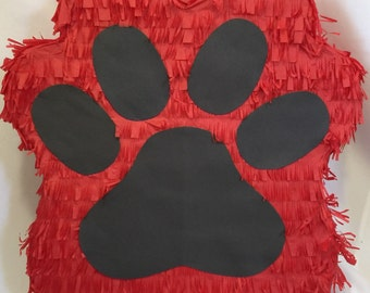Red & Black Paw Pinata Customize Your Own Colors FREE