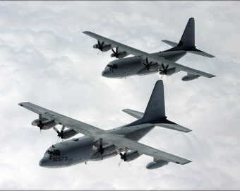 24x36 Poster . Kc-130 Hercules Marine Aerial Refueler Transport Squadron 152