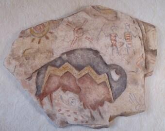 Southwestern Art Cast Plaster Bison signed by Artist