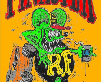 Vintage Reproduction Racing Poster Rat Fink Finkster