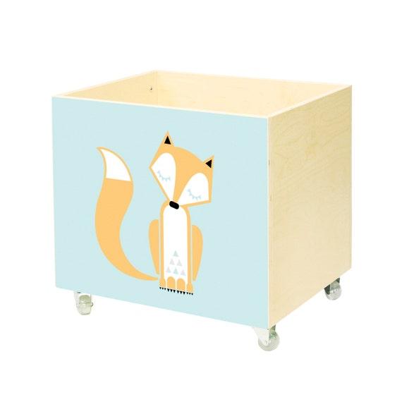 Big toy chest, nursery toy box, toy storage, Wooden, on wheels ...