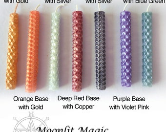 Shimmer Beeswax Chime Candles Ritual Candles Pagan Wicca