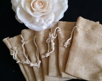 Burlap Decorations, Rustic Wedding, Wedding Burlap Bag, Rustic Wedding Favors, Burlap Wedding Decor, Rustic Baby Showers, Burlap Favor Bags