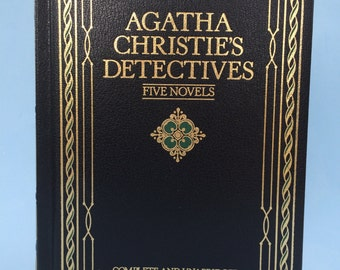 Agatha Christie's Detectives Five Novels Collectible Bonded Leather Edition