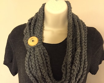 Crochet chain scarf