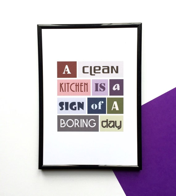 Funny Quote Housewarming Gift Kitchen By Sixelevencreations