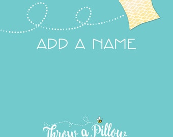 Add Names to Any Pillow