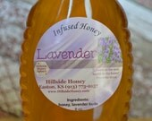 Lavender Infused raw honey with lavender buds 16 oz.
