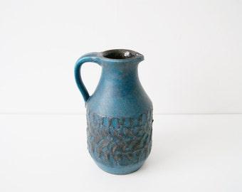 60s vase jug - vase petrol - ceramic