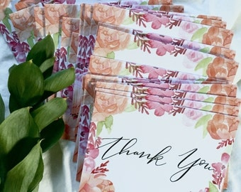 Watercolor Thank You Cards-10 pack