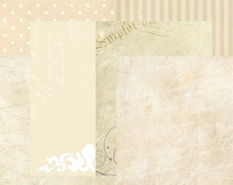"Chantilly Cream 8.3x11"" papers"