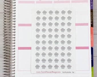 Itty Bitty Kawaii Rain Cloud Stickers