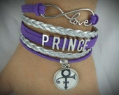 Prince bracelet - Prince infinity bracelet - Prince memorabilia - Prince collectible - Prince gift idea - Prince fan - Prince fan gift idea