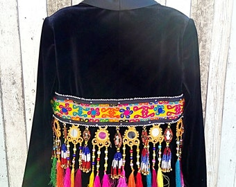 Tribal velvet jacket