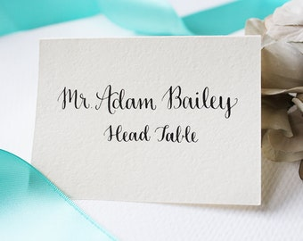 Wedding Place Cards & Escort Cards with Handwritten Calligraphy | Custom Calligraphy - Regina Style