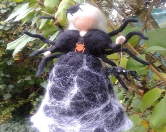 Needle felted fairy inspired Waldorf,  spider