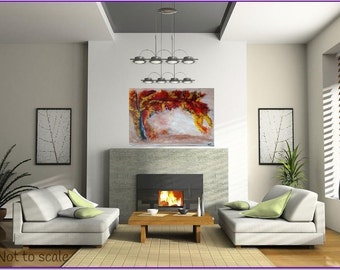 Fall Dream (Original Handmade Painting) By Kat Acrylic  Tree Painting FREE SHIPPING