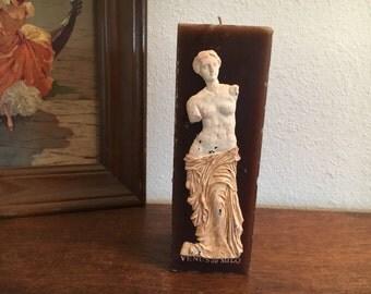 "Vintage Venus de Milo Candle Large 9"" Tall"